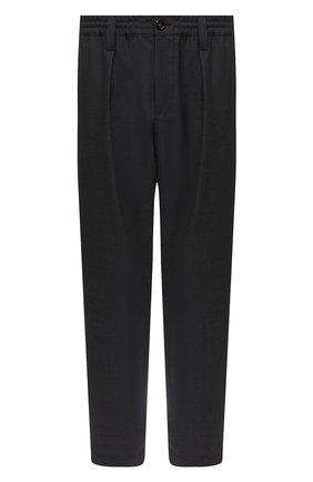 Мужской шерстяные брюки MARNI темно-серого цвета, арт. PUMU0017A0/S45027   Фото 1