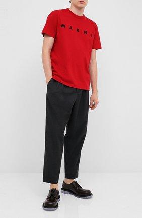 Мужской шерстяные брюки MARNI темно-серого цвета, арт. PUMU0017A0/S45027   Фото 2