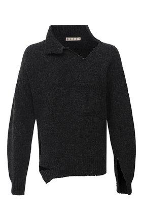 Мужской шерстяной свитер MARNI темно-серого цвета, арт. DVMG0015A0/S17427   Фото 1