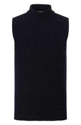 Мужской шерстяной жилет MARNI темно-синего цвета, арт. DVMG0009A0/S16931 | Фото 1
