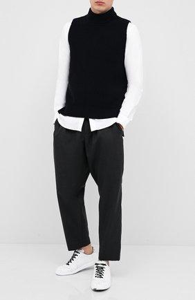 Мужской шерстяной жилет MARNI темно-синего цвета, арт. DVMG0009A0/S16931 | Фото 2