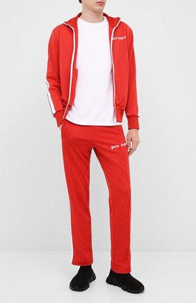 Мужская толстовка PALM ANGELS красного цвета, арт. PMBD001E20FAB0012901 | Фото 2