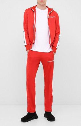 Мужской брюки PALM ANGELS красного цвета, арт. PMCA007E20FAB0012901 | Фото 2