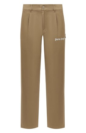 Мужской хлопковые брюки PALM ANGELS бежевого цвета, арт. PMCA081E20FAB0026161 | Фото 1