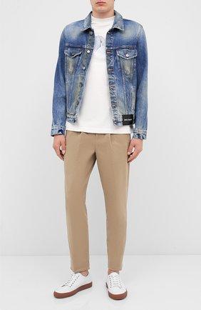 Мужская джинсовая куртка PALM ANGELS синего цвета, арт. PMYE003E20DEN0024016 | Фото 2