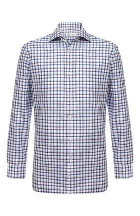 Мужская хлопковая сорочка LUIGI BORRELLI синего цвета, арт. EV08/ARCHILLE/TS30151 | Фото 1