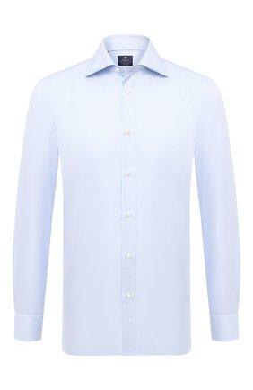 Мужская хлопковая сорочка LUIGI BORRELLI голубого цвета, арт. EV08/LUCIAN0/TS10227 | Фото 1