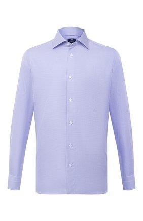 Мужская хлопковая сорочка LUIGI BORRELLI синего цвета, арт. EV08/LUCIAN0/TS10227 | Фото 1