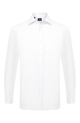 Мужская хлопковая сорочка LUIGI BORRELLI белого цвета, арт. EV08/LUCIAN0/TS10224 | Фото 1