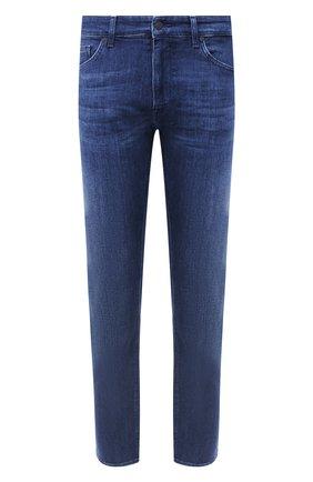 Мужские джинсы BOSS синего цвета, арт. 50432461   Фото 1