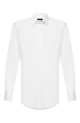 Мужская хлопковая сорочка BOSS белого цвета, арт. 50433188 | Фото 1