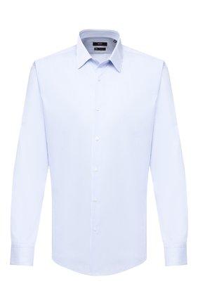 Мужская хлопковая сорочка BOSS синего цвета, арт. 50432663 | Фото 1