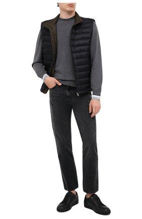 Мужской хлопковый джемпер BOSS серого цвета, арт. 50430093 | Фото 2