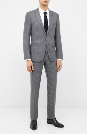 Мужской шерстяной костюм BOSS серого цвета, арт. 50435375 | Фото 1