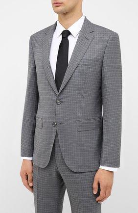 Мужской шерстяной костюм BOSS серого цвета, арт. 50435375 | Фото 2