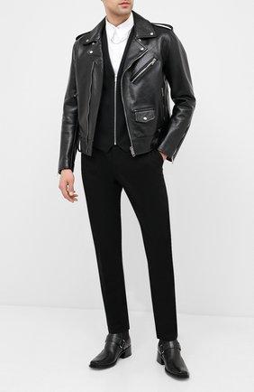 Мужской комбинированный жилет HUGO черного цвета, арт. 50432121 | Фото 2