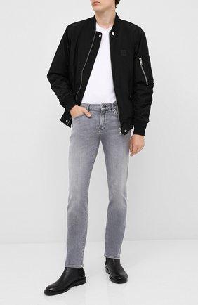 Мужские джинсы BOSS темно-серого цвета, арт. 50432449 | Фото 2