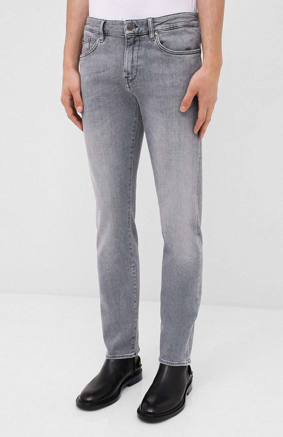 Мужские джинсы BOSS темно-серого цвета, арт. 50432449 | Фото 3