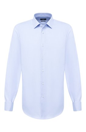 Мужская хлопковая сорочка BOSS синего цвета, арт. 50433292 | Фото 1