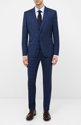 Мужская хлопковая сорочка BOSS синего цвета, арт. 50433292 | Фото 2