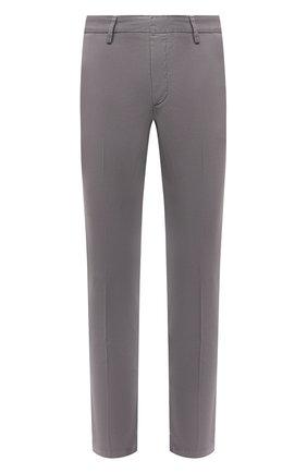 Мужской хлопковые брюки BOSS серого цвета, арт. 50410310 | Фото 1