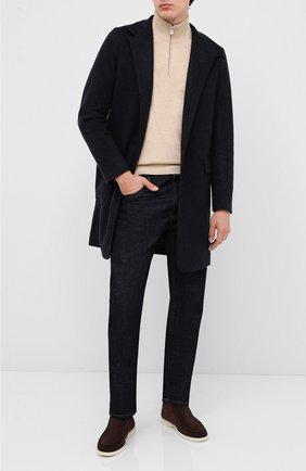 Мужской кашемировое пальто LORO PIANA темно-синего цвета, арт. FAF4702 | Фото 2