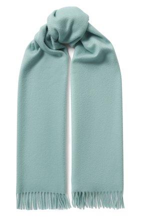 Женский кашемировый шарф grande unita LORO PIANA мятного цвета, арт. FAA1056   Фото 1 (Материал: Кашемир, Шерсть)