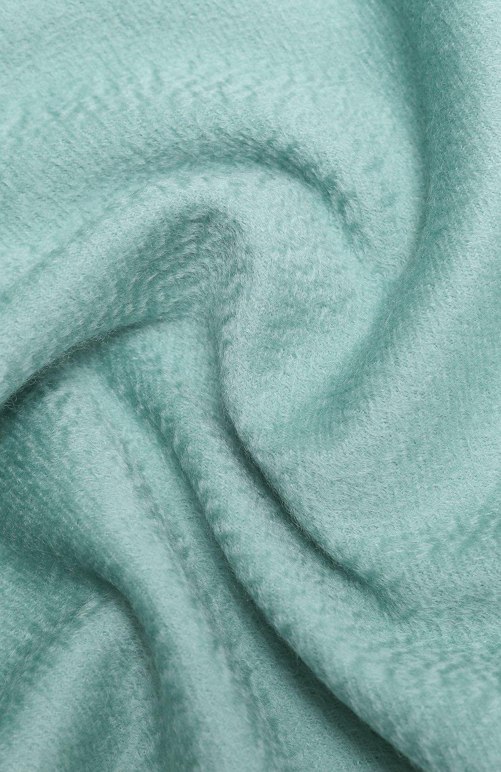 Женский кашемировый шарф grande unita LORO PIANA мятного цвета, арт. FAA1056   Фото 2 (Материал: Кашемир, Шерсть)