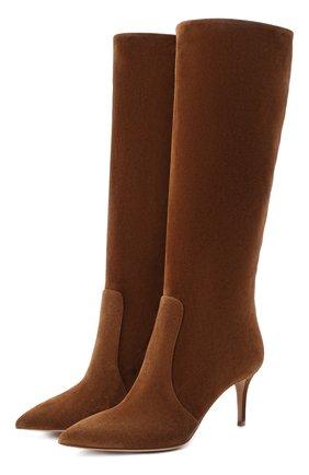 Женские замшевые сапоги hansen GIANVITO ROSSI коричневого цвета, арт. G80458.70RIC.C45TEXA | Фото 1