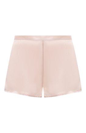 Женские шелковые мини-шорты LA PERLA светло-розового цвета, арт. 0020290 | Фото 1