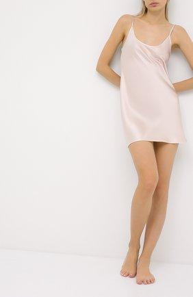 Женская шелковая сорочка LA PERLA светло-розового цвета, арт. 0020291 | Фото 2