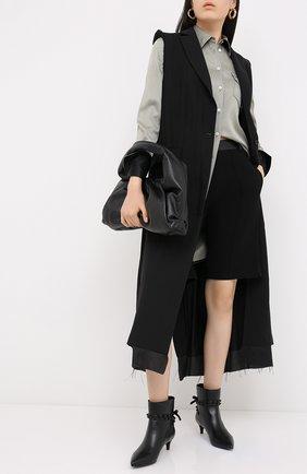 Женские кожаные ботильоны rockstud flair VALENTINO черного цвета, арт. UW2S0AA4/MLR | Фото 2