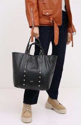Женская сумка-шопер REDVALENTINO черного цвета, арт. UQ2B0C14/IBL | Фото 2