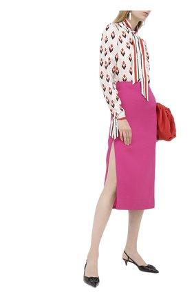 Женская юбка VALENTINO фуксия цвета, арт. UB3RA6B51CF | Фото 2