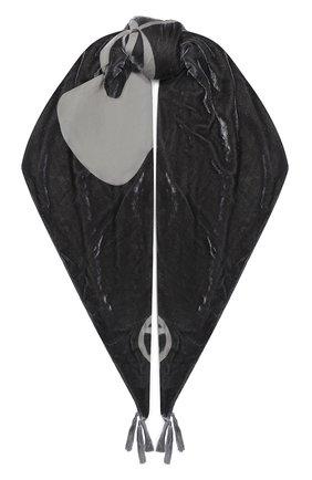 Женская шаль из вискозы и шелка GIORGIO ARMANI серого цвета, арт. 795309/0A138 | Фото 1