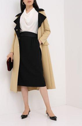 Женская юбка GIORGIO ARMANI черного цвета, арт. 0WHNN049/T01J4 | Фото 2