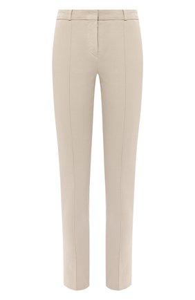 Женские хлопковые брюки LORO PIANA бежевого цвета, арт. FAL3258 | Фото 1