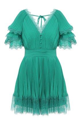 Женское мини-платье SELF-PORTRAIT зеленого цвета, арт. PF20-085G | Фото 1