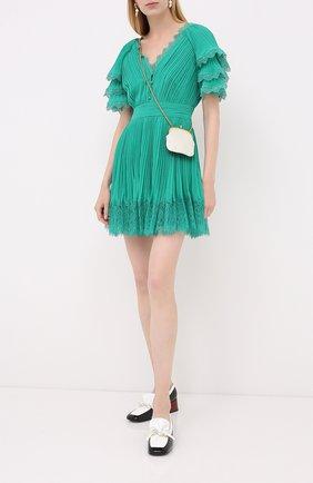 Женское мини-платье SELF-PORTRAIT зеленого цвета, арт. PF20-085G | Фото 2