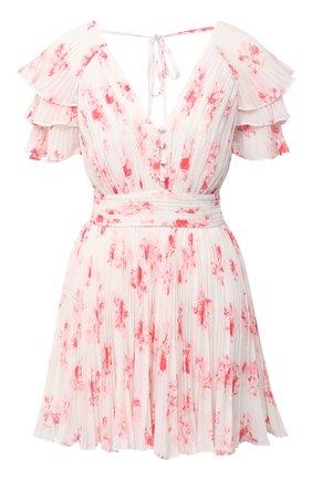 Женское мини-платье SELF-PORTRAIT розового цвета, арт. PF20-085 | Фото 1