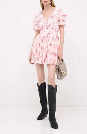 Женское мини-платье SELF-PORTRAIT розового цвета, арт. PF20-085 | Фото 2