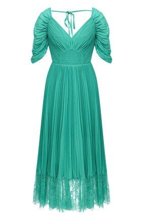 Женское платье SELF-PORTRAIT зеленого цвета, арт. PF20-056C | Фото 1