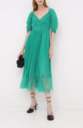 Женское платье SELF-PORTRAIT зеленого цвета, арт. PF20-056C | Фото 2
