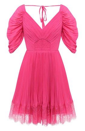 Женское мини-платье SELF-PORTRAIT фуксия цвета, арт. PF20-056B | Фото 1