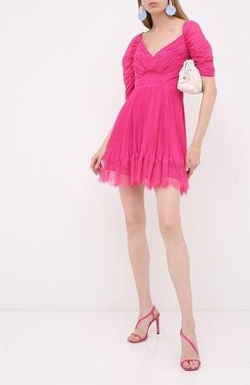 Женское мини-платье SELF-PORTRAIT фуксия цвета, арт. PF20-056B | Фото 2