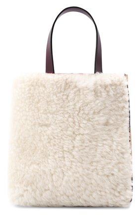 Женская сумка-шопер museo soft small MARNI белого цвета, арт. SHMP0040Q2/P3622 | Фото 1