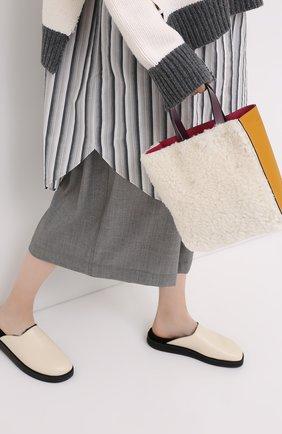 Женская сумка-шопер museo soft small MARNI белого цвета, арт. SHMP0040Q2/P3622 | Фото 2