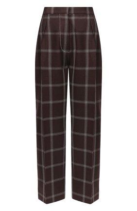 Женские шерстяные брюки MARNI бордового цвета, арт. PAMA0192U0/TW893 | Фото 1