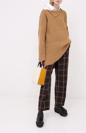 Женские шерстяные брюки MARNI бордового цвета, арт. PAMA0192U0/TW893 | Фото 2