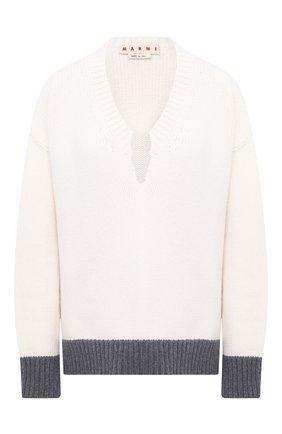 Женская шерстяной свитер MARNI белого цвета, арт. CVMD0049Q1/FH515 | Фото 1